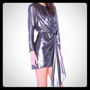 KRISA SEYMORE DRESS MEDIUM SILVER NEW W TAGS $348